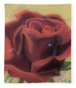 Doris's Rose Fleece Blanket