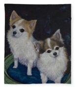 Dot And Dolly Fleece Blanket