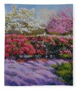 Dotti's Garden Spring Fleece Blanket