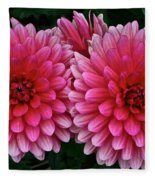 Double Dahlia Fleece Blanket