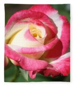 Double Delight Rose Fleece Blanket