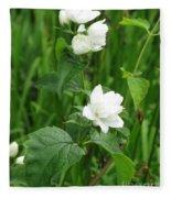 Double Jasmine In Bloom Fleece Blanket