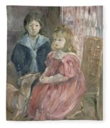 Double Portrait Of Charley And Jeannie Thomas Fleece Blanket