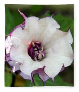 Double Purple Datura Fleece Blanket