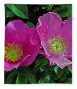 Double Wild Rose Fleece Blanket