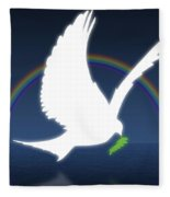 Dove Holding An Olive Branch With Fleece Blanket