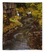 Down By The Old Mill Stream Fleece Blanket