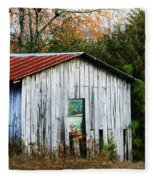 Down On The Farm - Old Shed Fleece Blanket