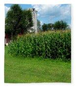 Down On The Wisconsin Farm Fleece Blanket