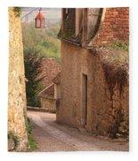 Down The Lane In Beynac France Fleece Blanket