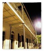 Downtown Balcony Baton Rouge Fleece Blanket