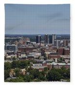 Downtown Birmingham Alabama Fleece Blanket