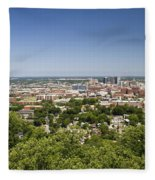 Downtown Birmingham Alabama On A Clear Day Fleece Blanket