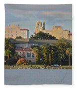 Downtown Lakeland Fleece Blanket