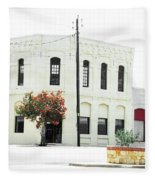 Downtown Flouresville Texas Fleece Blanket