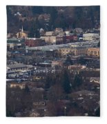 Downtown Grants Pass Sunday Morning Fleece Blanket