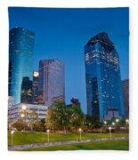 Downtown Houston Fleece Blanket
