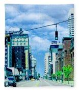 Downtown Union Ave Memphis Tn Fleece Blanket