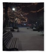 Downtown Winter Fleece Blanket