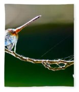 Dragonfly In The Wind Fleece Blanket