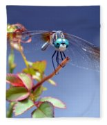 Dragonfly Visit Fleece Blanket