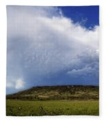 Dramatic Storm Over Table Rock Fleece Blanket