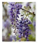 Draping Lavender Purple Wisteria Vines Fleece Blanket