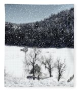 Dreams Of Snow  Fleece Blanket