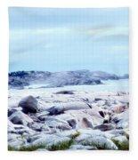 Dreamy Coastal Scene Fleece Blanket