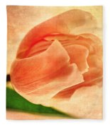 Dreamy Vintage Tulip Fleece Blanket