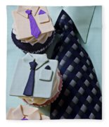 Dress Shirt Cupcakes Fleece Blanket