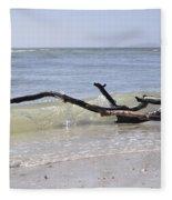 Driftwood In The Surf Fleece Blanket