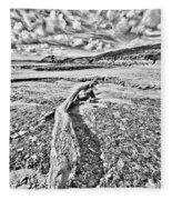 Driftwood Sketch Fleece Blanket