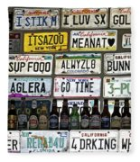 Drinking And Driving Fleece Blanket