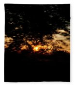 Drive By Sunset Fleece Blanket