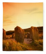Drombeg Stone Circle, Near Glandore, Co Fleece Blanket