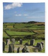 Drombeg Stone Circle Near Glandore In Fleece Blanket