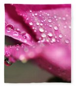 Droplet On Rose Petal Fleece Blanket