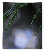 Drops In The Forest Fleece Blanket