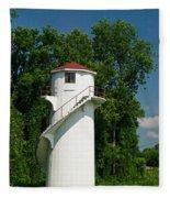 Dry Land Lighthouse 1 Fleece Blanket