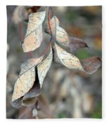 Dry Leaves Fleece Blanket