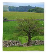 Dry Stone Wall And Twisted Tree Fleece Blanket