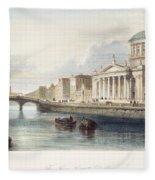 Dublin, 1842 Fleece Blanket