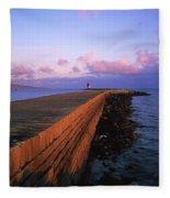 Dublin Bay, Co Dublin, Ireland East Fleece Blanket