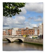 Dublin Cityscape Fleece Blanket