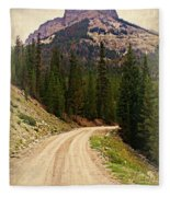 Dubois Mountain Road Fleece Blanket