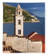 Dubrovnik Architecture Fleece Blanket