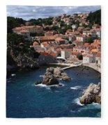 Dubrovnik By The Sea Fleece Blanket