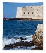 Dubrovnik Fortification And Bay Fleece Blanket