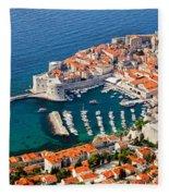 Dubrovnik Old City Aerial View Fleece Blanket